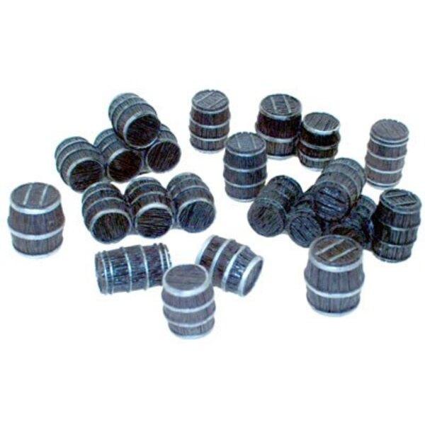 28mm (Approx 1:48) Wooden Barrels