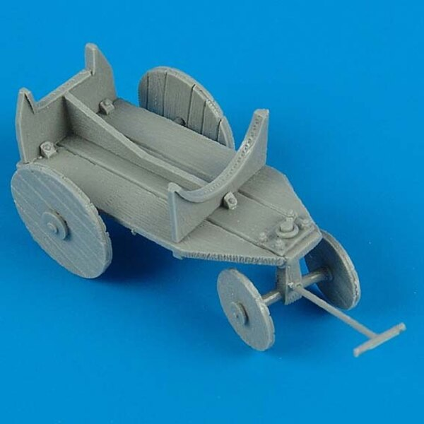 German WWII support cart for external fuel tank