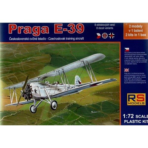 Praga E-39 Cz. Trainer . 2 kits in box 8 decal var. 4 Cze. 4 Slov. WWI