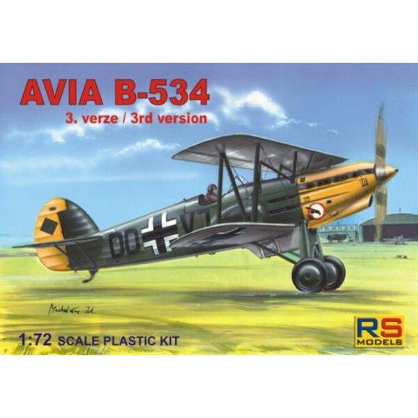 Avia B-534/III. Decals for 6 aircraft Czechoslovakia Luftwaffe and Slovakia