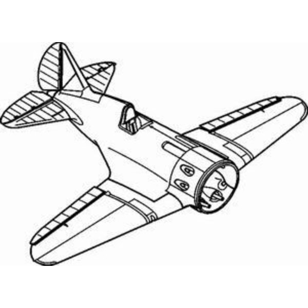 Polikarpov I-16 typ 24 exterior set. Set contains new separate cowling exhaust stacks exhausts cover plates partial fuselage bul