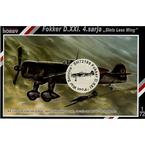 Fokker D.XXI IV Sarja Post War Service