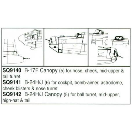 Consolidated B-24H Liberator/Consolidated B-24J Liberator Ball turret bombardier window astrodome turret (per i kit modello da A