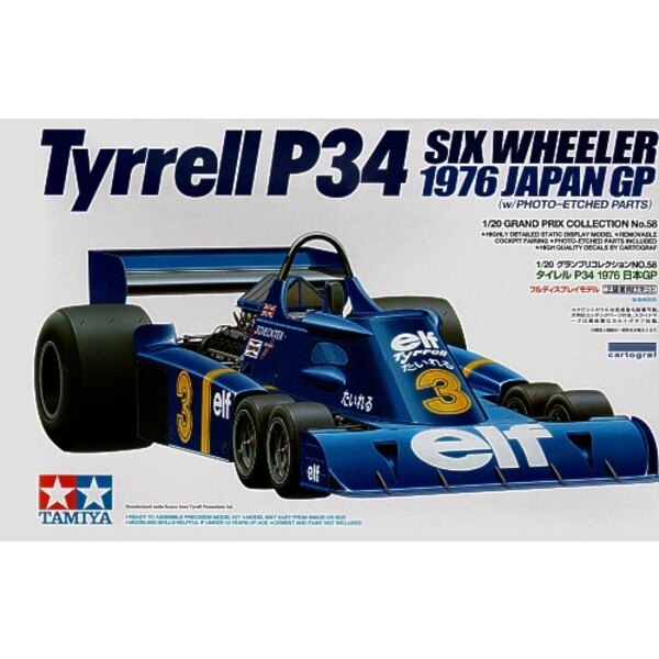 Tyrrell P34 1976 Japanese GP with etch parts