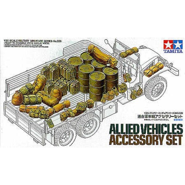 Allied Vehicles Accessory set Oil drums jerry cans packs