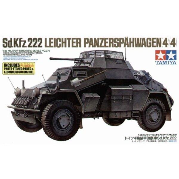 Sd.Kfz.222 Armoured Car with Photo-Etched & aluminium Gun Barrel