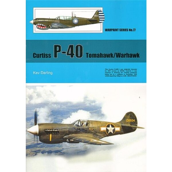 Libro Curtiss P-40. Derived from the earlier Curtiss 75 Hawk the P-40 Warhawk was an attempt to update the original design for m