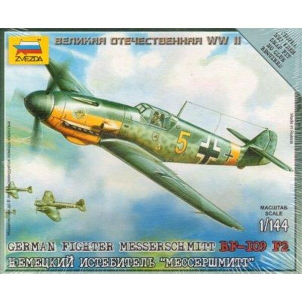 Messerschmitt Bf 109F-2 con piedistallo di presentazione