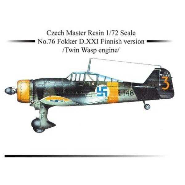 Fokker D.XXI Finnish version with twin Wasp engine NOW WITH DECALS!