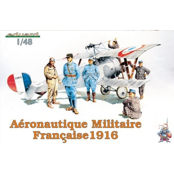 Aeronautique Militaire Francaise 1916. (French pilot and ground staff WWI)