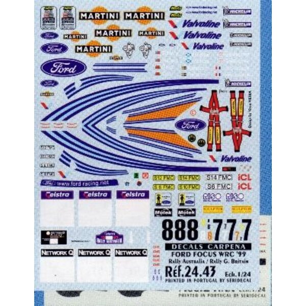 Ford Focus Australia 99 1:24