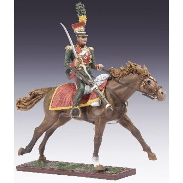 Austrian cavalry with sword - brown horse 1:24