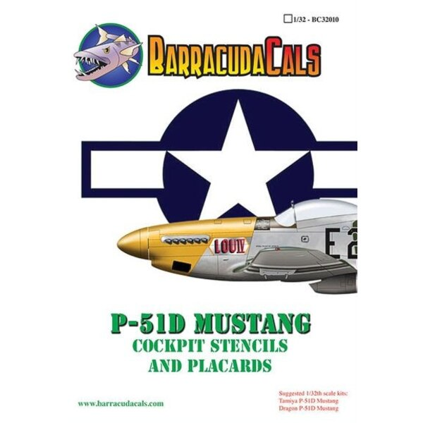 P-51D Mustang Stencils and Placards