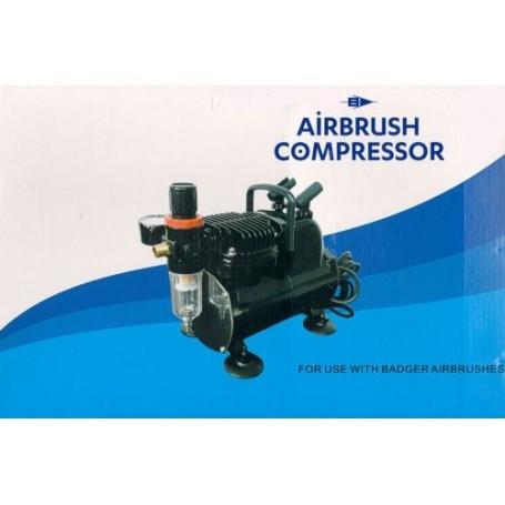 Airbrush Compresser with Auto Start /Auto Stop Function, Air pressure gauge, Adjustable pressure, Air filter, Moisture trap, Pis