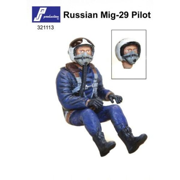 Russian MiG-29 pilot seated in a/c (the kit contains two heads which represent the both types of helmets). This figure is destin