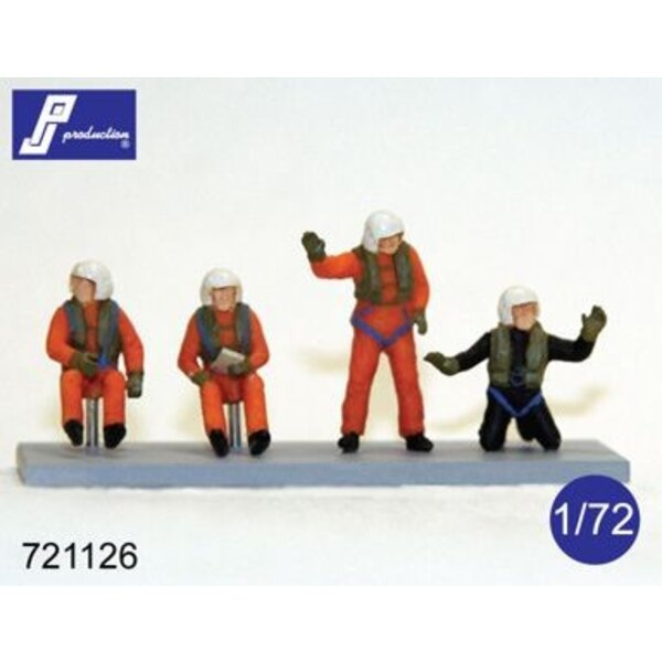 SAR/Search And Rescue helicopter/Westland Sea King crew set (set of 4 figures: pilot, co-pilot, wincher, diver)