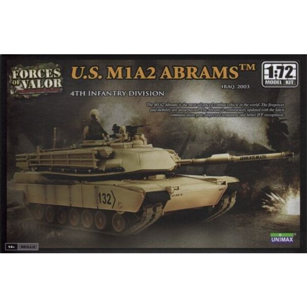 M1A2 Abrams - WARNING : this is a model kit and NOT a ready built miniature