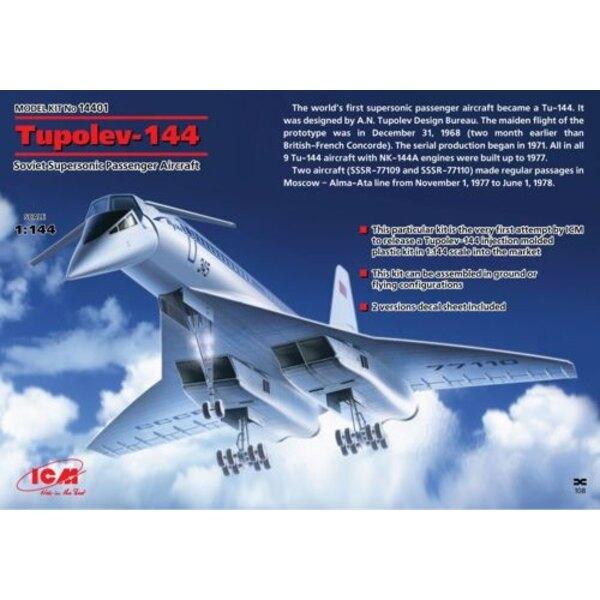 Tupolev Tu-144, Soviet Supersonic Passenger Aircraft
