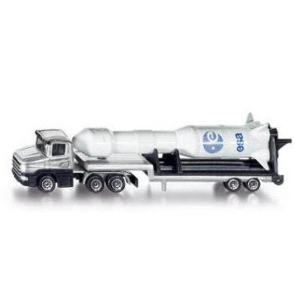 Low loader with rocket 1:87