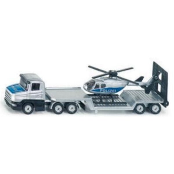 Low loader with Helicopter 1:87