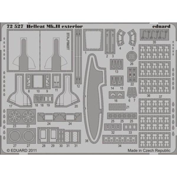 Grumman Hellcat Mk.II exterior (for Eduard kits)