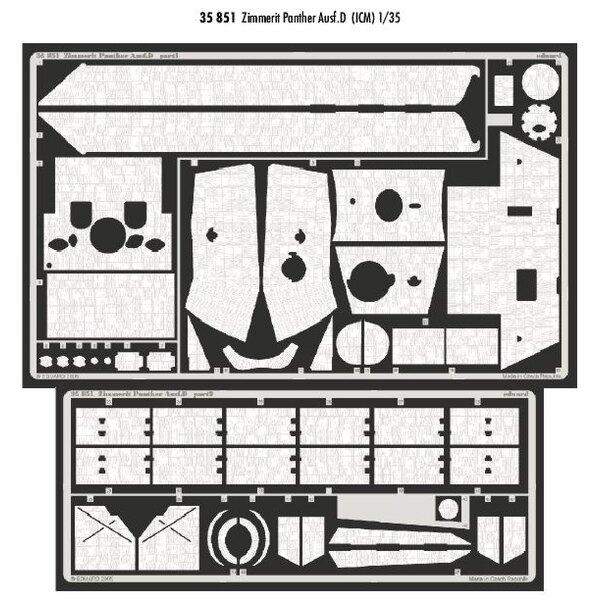Zimmerit Panther Ausf.D (per i kit modello da ICM)