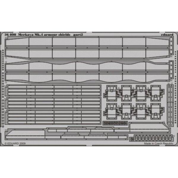 Merkava Mk.IV armour shields (per i kit modello da Academy)