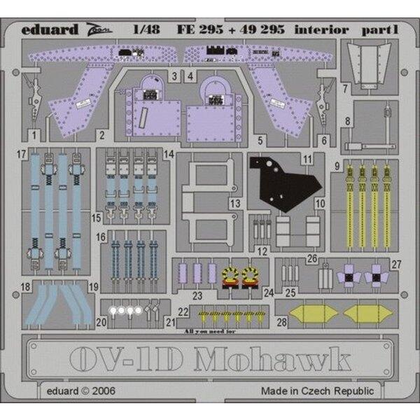Grumman OV-1D Mohawk interior PRE-PAINTED IN COLOUR! (per i kit modello da Roden)