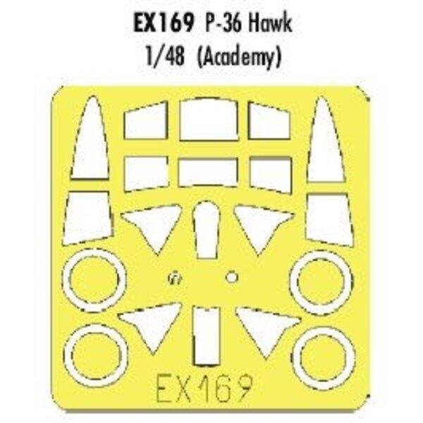 Curtiss P-36 Hawk (per i kit modello da Academy) (fatto da nastro Kabuki giallo prodotta in Giappone)