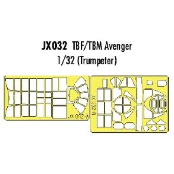Grumman TBF-1/Grumman TBM-3 Avenger (per i kit modello da Trumpeter) (fatto da nastro Kabuki giallo prodotta in Giappone)