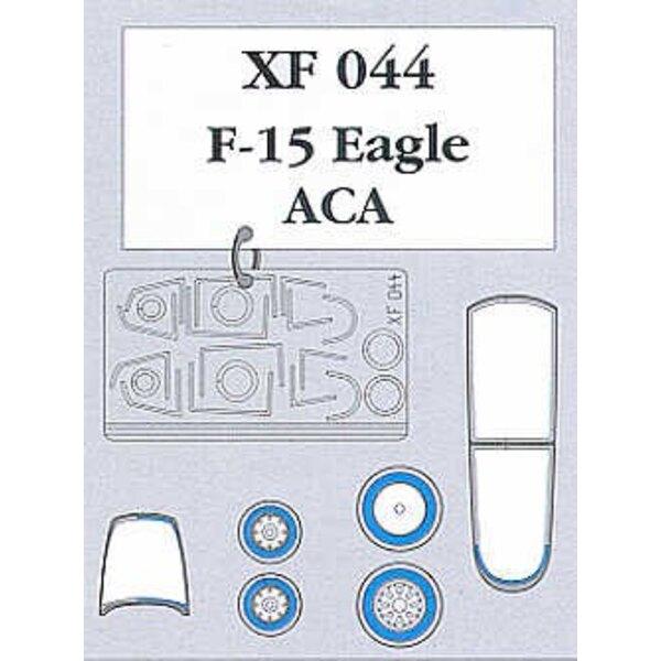 McDonnell Douglas F-15C Eagle canopy and wheels (per i kit modello da Academy)