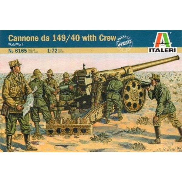 Cannone da 149/40 con agenti