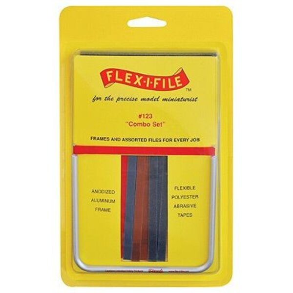 1 Anodized Aluminum Frame and 17 Assorted Abrasive Refill Tapes