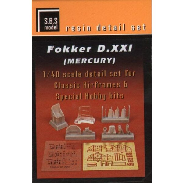 Fokker D.XXI detail set (designed to be used with Classic Airframes and Special Hobby kits)