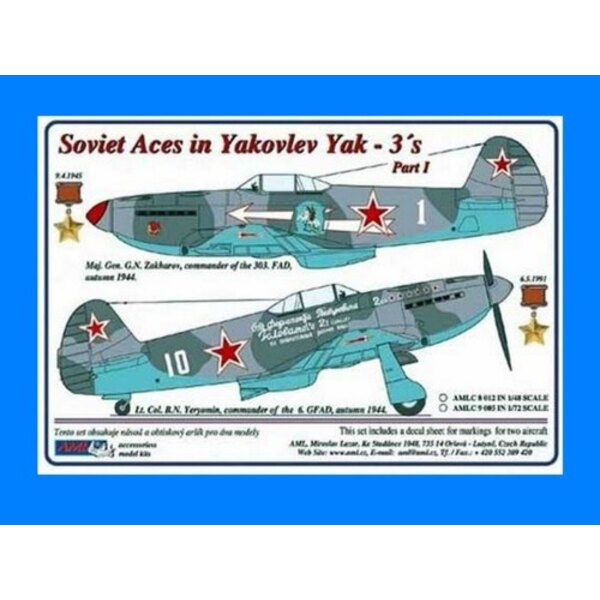 Soviet Aces in Yakovlev Yak-3´s 2 decal versions : Part I