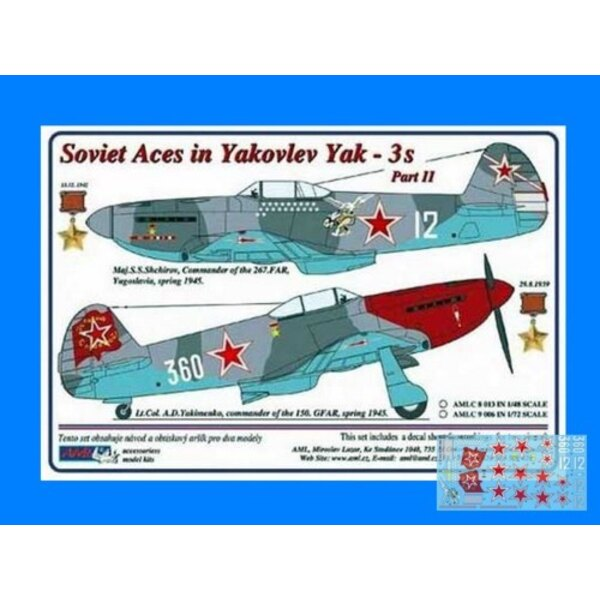 Soviet Aces in Yakovlev Yak-3´s 2 decal versions : Part II