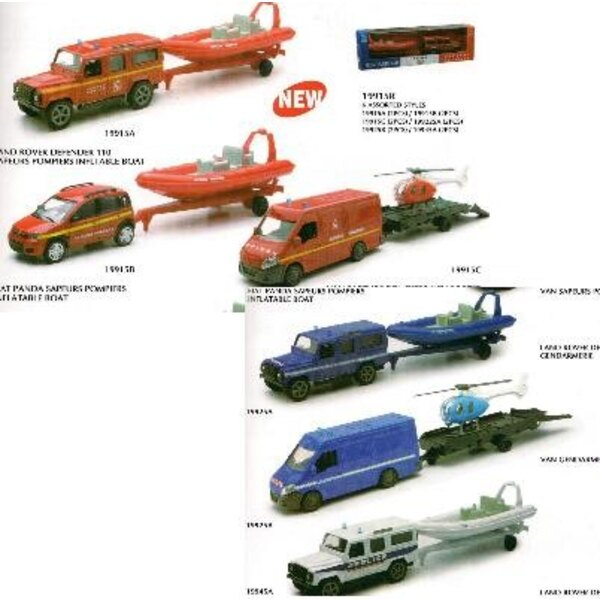 Box of 12 towed vehicles (Police, fire department, Gendarmerie)