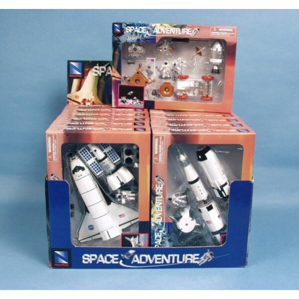 Space Adventure : shuttle+station+rocket+rover(3x4