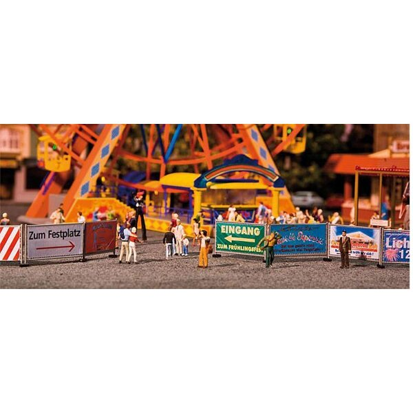 Fairground barriers and signs, 720 mm