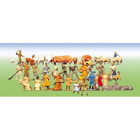 Set of figures Farm, 36 pieces
