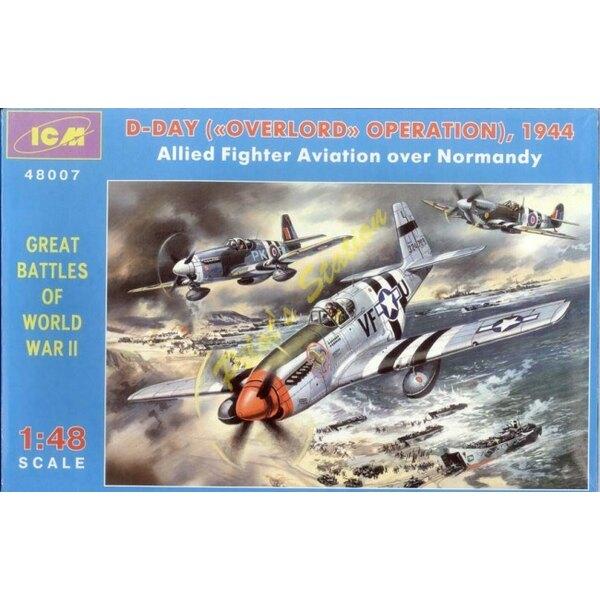 D-DAY set - P-51C & Mustang MK.III & Spitfire MK.IX