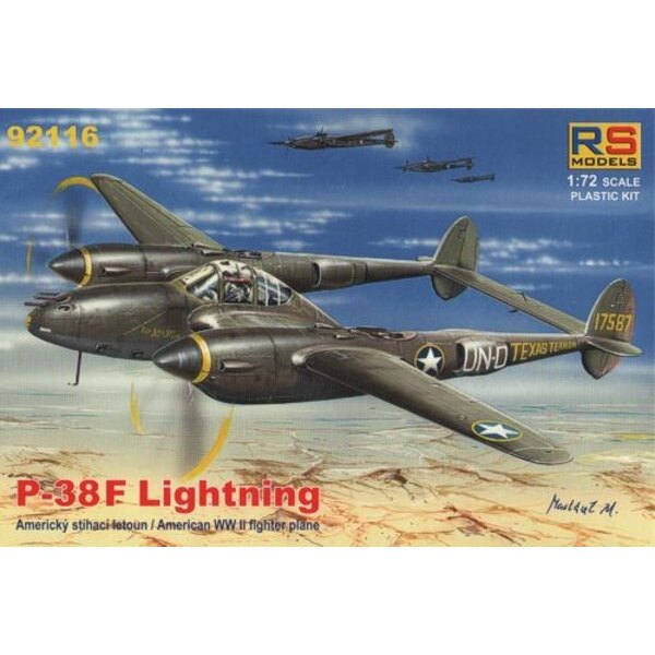 Lockheed P-38F Lightning - New 4/2012 !!! 4 decal variants for USA