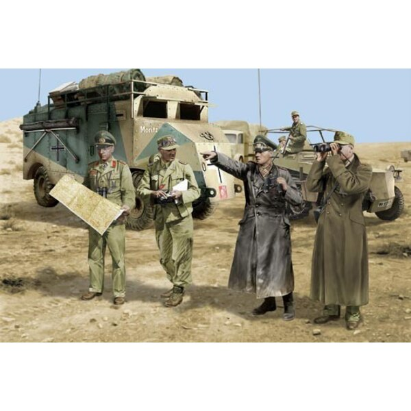 Rommel and staff Africa 42