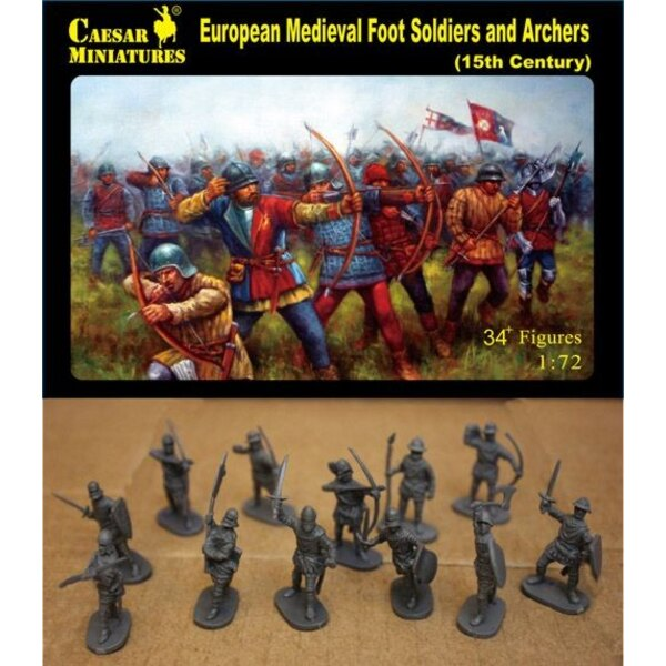 European Medieval Foot Soldiers and Archers, 15th Century