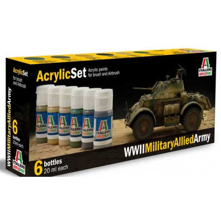 WWII allied tanks painting set