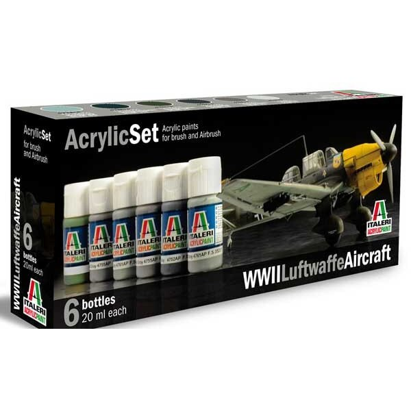 WWII German aircrafts painting set