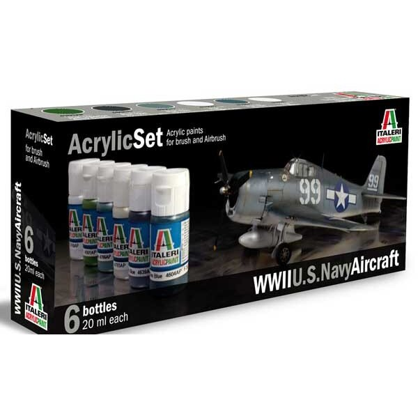 WWII US Navy aircraft painting set