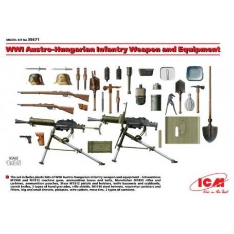 WWI austroungarico Arma di Fanteria e Attrezzature 1/35 - ICM M35671