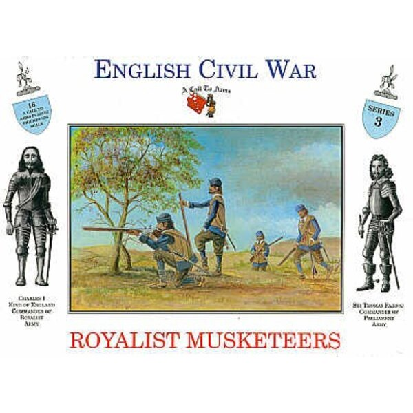 Royalist Musketeers 16 figures