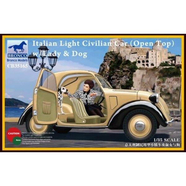 Italiana Civilian Car Light (Open Top) con Lady / Cane